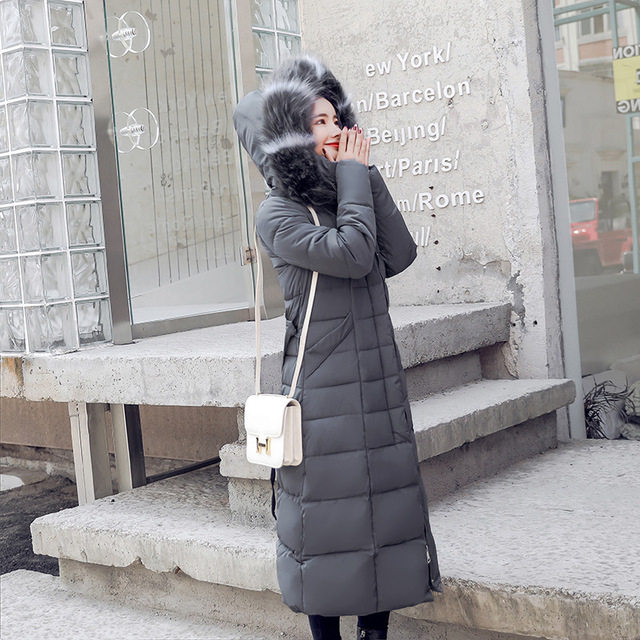 86d62b95d46 Winter Jacket Long Female Hooded Fur Women Parka Coat Plus Size Snow 2018  Autumn Korean Clothes Outwear Puffer Quilted Thick 64