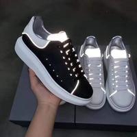Популярные светящиеся кроссовки; женская обувь на платформе; спортивная обувь для тенниса; женская повседневная обувь из натуральной кожи;
