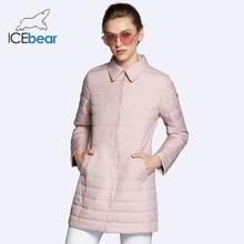 ICEbear 2018 New Shirt Collar Autumn Women Coat Fashion Woman Coats Winter Jacket Brand Windproof Clothing Parkas GWC18083D