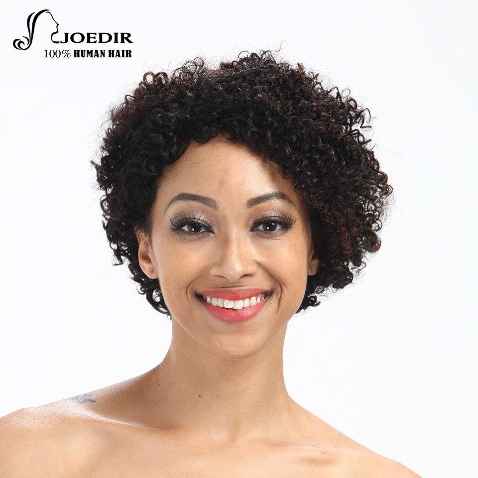 Joedir Short Curly Parykar För Kvinnor Brazilian Remy Mänskligt - Skönhet och hälsa - Foto 1