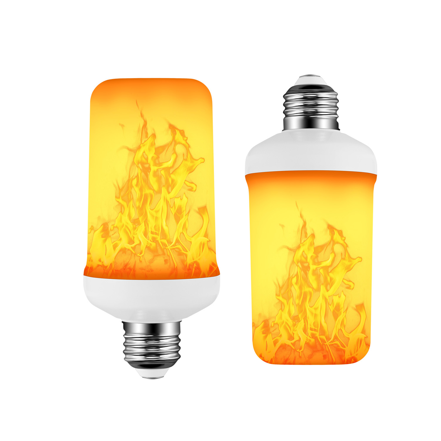 E27 85-265V LED Flame Effect Bulb Fire Light Gravity Sensor Corn Bulbs Emulation Decor Lamp Dynamic Light 4 Modes Creative Lampa
