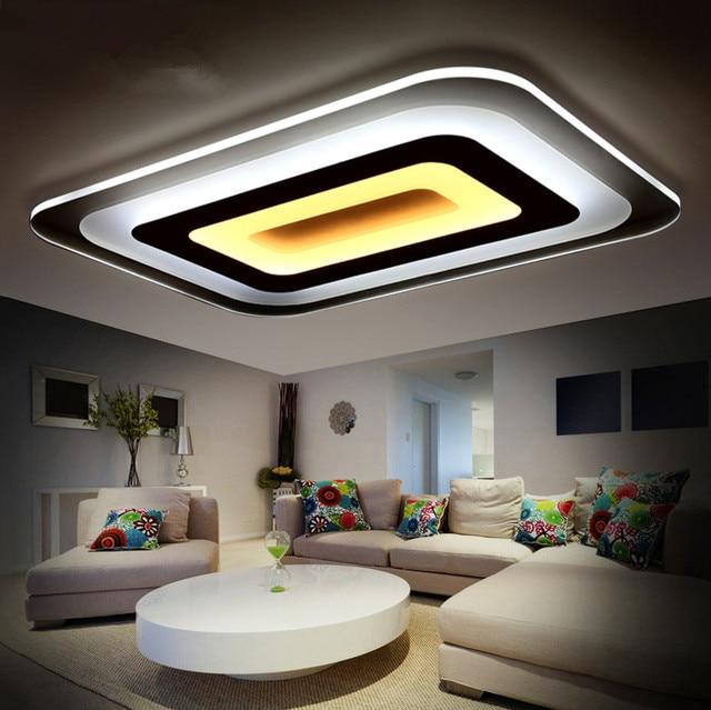 modernas lmparas de techo led para iluminacin interior plafon led cuadrada lmpara de techo lmpara de