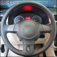 Car Styling Artificial Leather Car Steering Wheel Cover For Volkswagen Golf 6 Mk6 VW Polo MK5