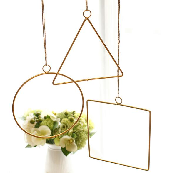 1PC Metal Iron Hanging Planter Vase