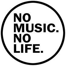 CS-982 #15*15cm nenhuma música nenhuma vida engraçado adesivo do carro vinil decalque prata/preto para auto adesivos de carro estilo decoração do carro