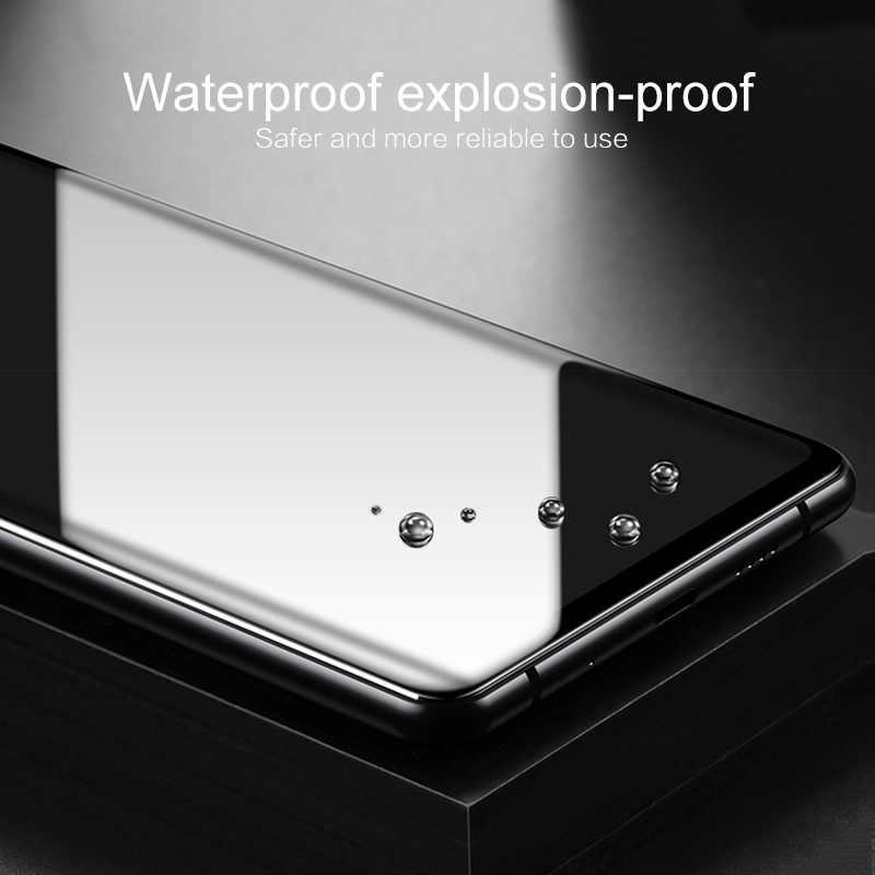 1PCS מסך מגן עבור Xiaomi Redmi הערה 7 פרו מלא כיסוי Dustproof אנטי-טביעת אצבע מזג זכוכית ברור פרימיום HD סרט