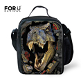 FORUDESIGNS Insulated Dinosaur Print Lunch Bag Bolsa Lancheira Termica Bag Portable Picnic Lunch Carry Bag Lunch Box for Kids