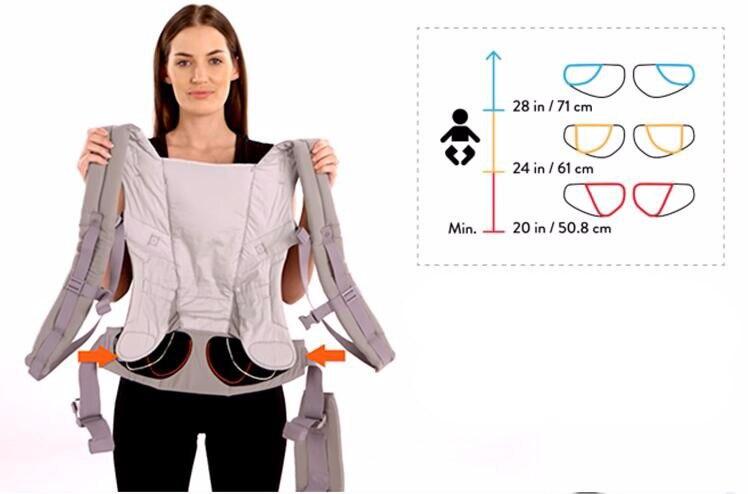 Адаптироваться Кенгуру Многофункциональный дышащий младенческой рюкзак малыш перевозки новорожденных до малышей слинг Обёрточная бумага...