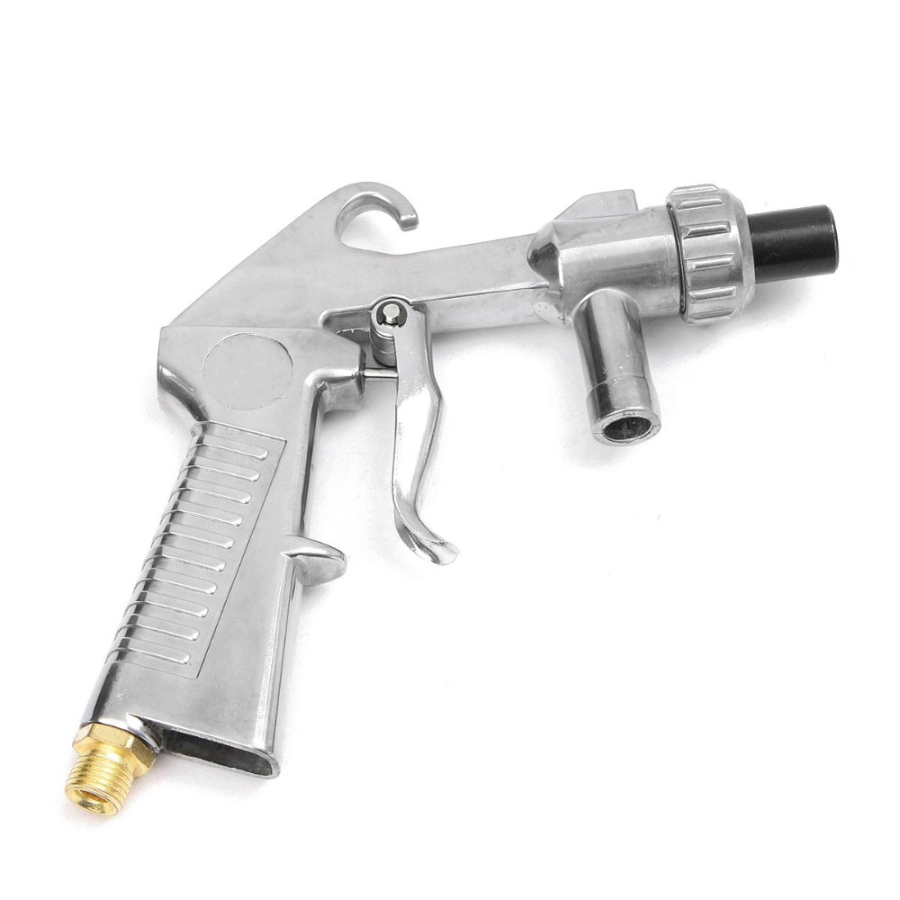 Image 4 - Air Sandblaster Sandblasting Blast Gun+Nozzles+Connector+Tube Derusting Tool Kit Industrial Sandblaster Gun-in Spray Guns from Tools on