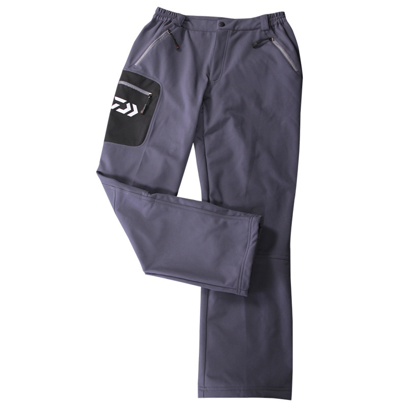 fishing clothing New outdoor winter fishing pants waterproof velvet warm pants elastic breathable wear resistant mountaineering