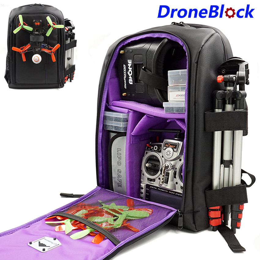 FPV Drone de course quadrirotor sac à dos sac de transport boîtier Portable extérieur pour avion RC Multirotor aile fixe
