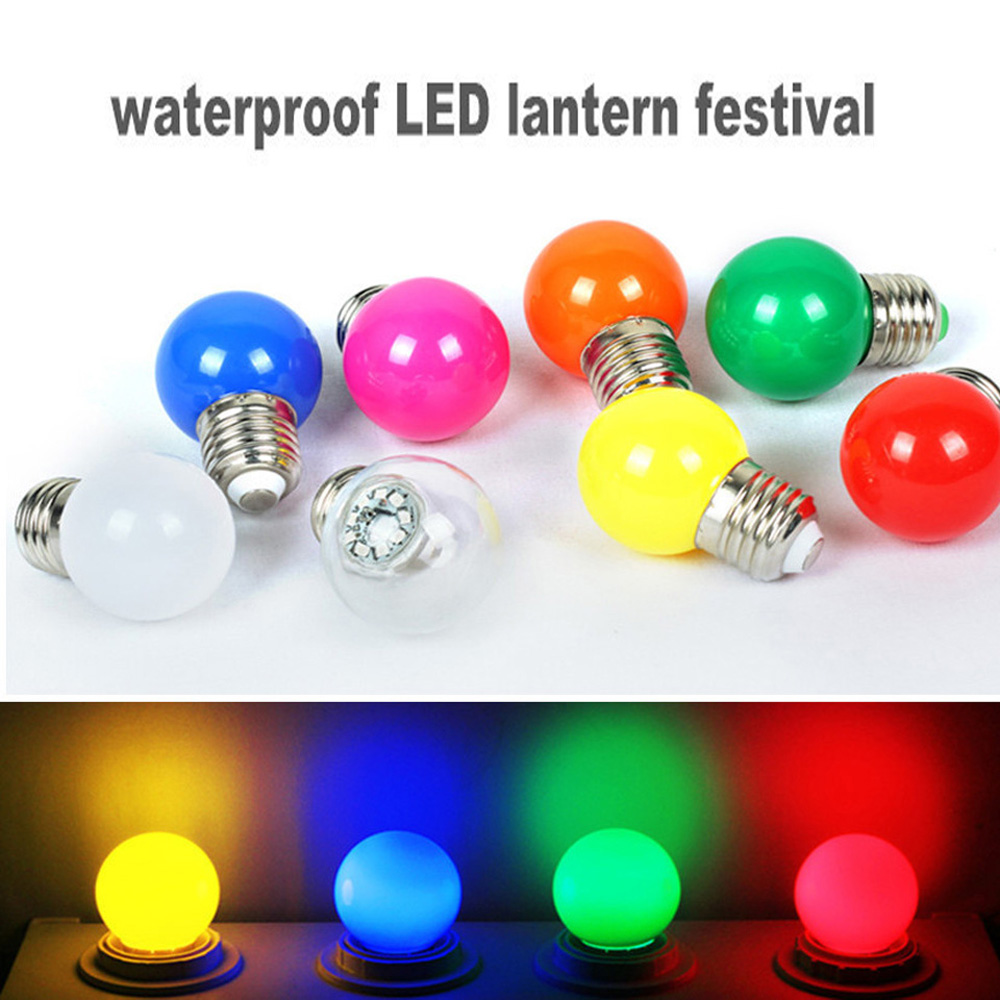 E27 Colorful Globe Light Bulb AC85-265V 3W LED Lamp SMD 2835 Energy Saving Lamparas Led Bulbs For weddings parties KTV colorful globe light bulb e27 led bar light 3w white red blue green yellow orange pink lamp light smd 2835 home decor lighting