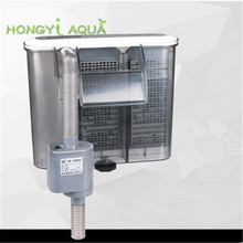 1 piece hang on back filter fish tank filter 3 in 1 aquarium filter wall mounted small waterfall filter electric SUNSUN HBL 302