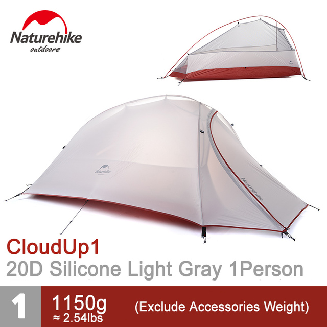 NatureHike 1 Person Tent Double layer C&ing Tent for One Man Lightweight 4 Seasons Tent NH15T001 T-in Tents from Sports u0026 Entertainment on Aliexpress.com ...  sc 1 st  AliExpress.com & NatureHike 1 Person Tent Double layer Camping Tent for One Man ...