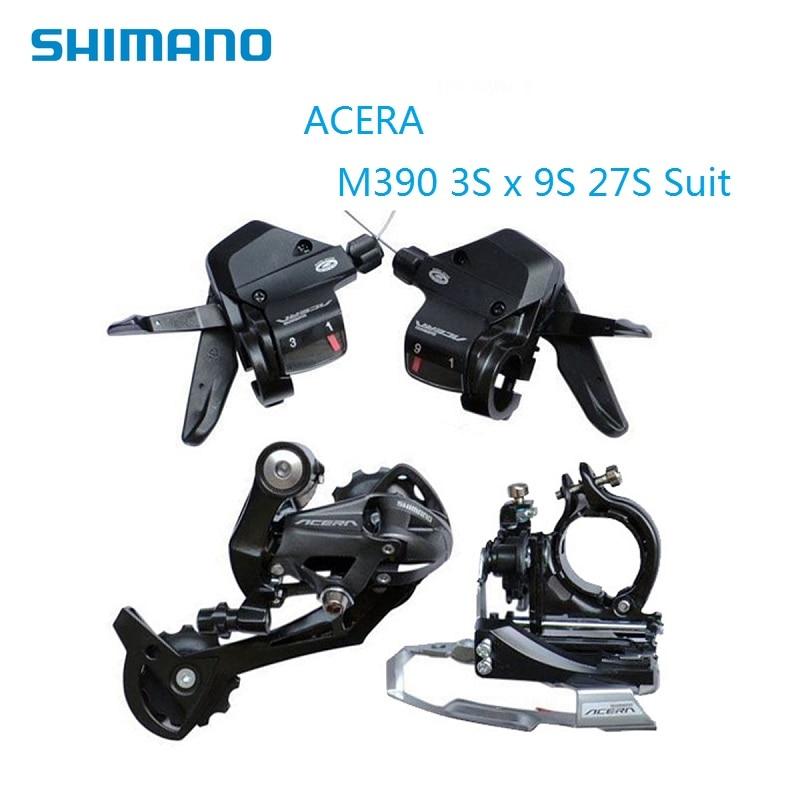 SHIMANO Acera M390 3s x 9s 27 Speed Suit Bicycle Derailleurs Shift Lever Front Rear Derailleur
