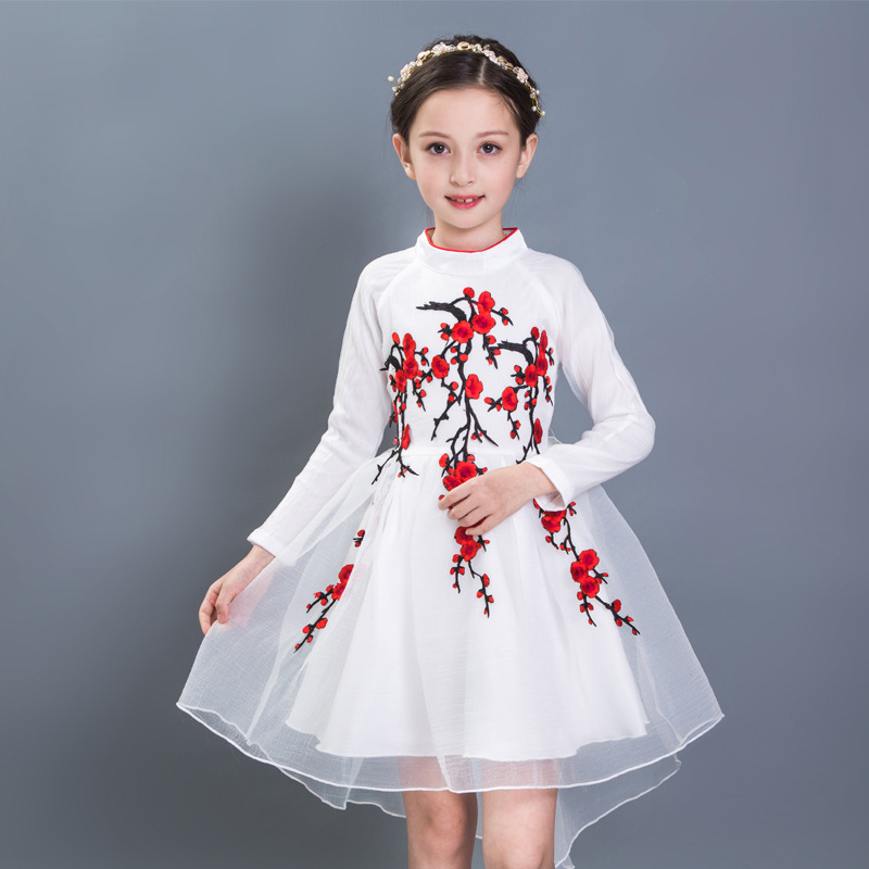 Fashion Autumn Winter Dresses Toddler Baby Girl Princess Long sleeves Lace Dress 3-12 Years Kids Children Wedding Party Clothing baby girl princess dress 3 12 years kids sleeveless big bow tutu dresses for toddler girl children fashion clothing