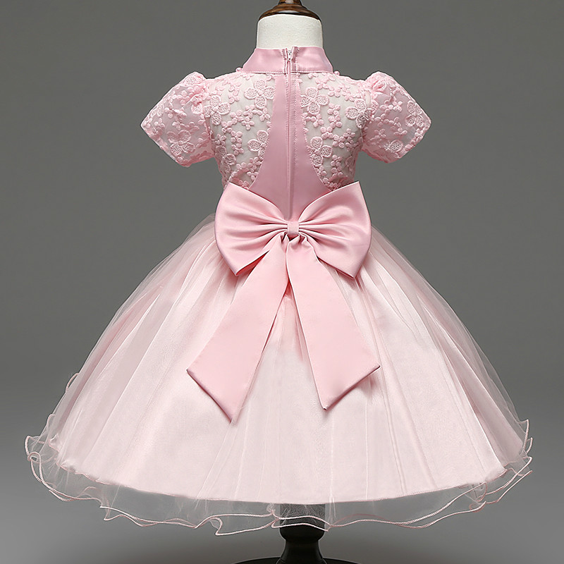 Cute Newborn Baby Girl Infant Party Dress Lace Crochet Christening ...