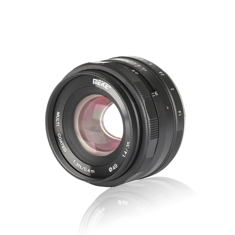 Meike 35mm f1.4 Manual Focus lens APS-C for Fuji X-mount /for Sony E Mount /for Micro 4/3 Camera A7 A7II A6000 A6500 A7iii a6300 image