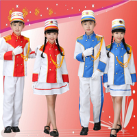Children S Drums Team Costumes Kindergarten Young Pioneers Flag Class Service Honor Guard Flag Team Hand