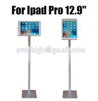 Flexible Tablet security lock floor stand for ipad pro 12.9