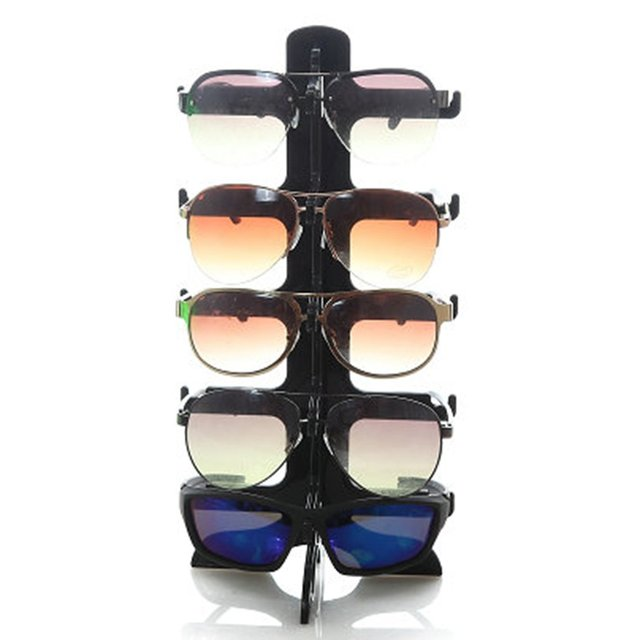 220dd1eb4 5 Layers Sunglasses Plastic Frame Display Stand Glasses Eyeglasses Colorful  Eyewear Counter Show Stands Holder Rack