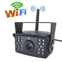 Trucks WiFi Backup Camera Wireless Reverse Camera Waterproof 28 IR Night Vision Rear View Cam for RVs, Trailers, Camper