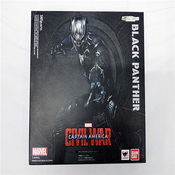 Marvel SHFiguarts Captain America Civil War Black Panther / Ant Man PVC Action Figure Collectible Model Toy captain america civil war bobble head pvc action figure collectible model toy doll 10cm