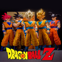 Freies Verschiffen 2016 neue heiße 6 Farbe 42 cm japanischen Anime Dragon Ball Z Super Saiyan Goku PVC Action Figure Schlacht Spielzeug KB036