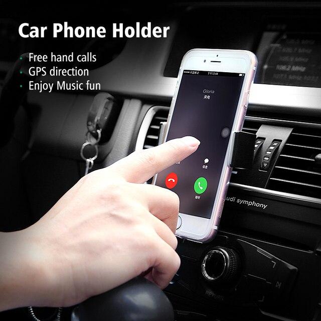 Ugreen Support De Voiture pour iphone Samsung Air Vent Mount Titulaire 360 réglable De Voiture Support de Téléphone Mobile Téléphone Stand pour iPhone 6 5 5S