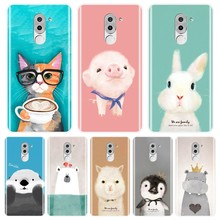 TPU Back Cover For Huawei Honor 4X 5A 5X 6 6X Pink Pig Cat Bear Rabbit Soft Silicone Phone Case For Huawei Honor 6A 4C 5C 6C Pro(China)