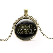 New Arrival Comics STAR WARS Round Pendant Necklace Darth Vader Anime Necklaces For Boy Brand Movie Neck Chain Neck Wear Jewelry