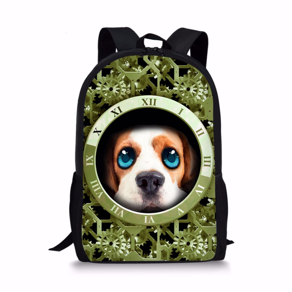 Customized 3D Dog Cat Wolf Men's Travel Bags Galaxy Star Fashion Travel Backpack Multifunction Shouler bag High Quality Brand