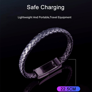 Image 3 - עור צמיד USB טלפון מטען כבל מיקרו USB סוג C נתונים סנכרון קצר Kable מהיר טעינה עבור Xiaomi סמסונג S10 תשלום חוט