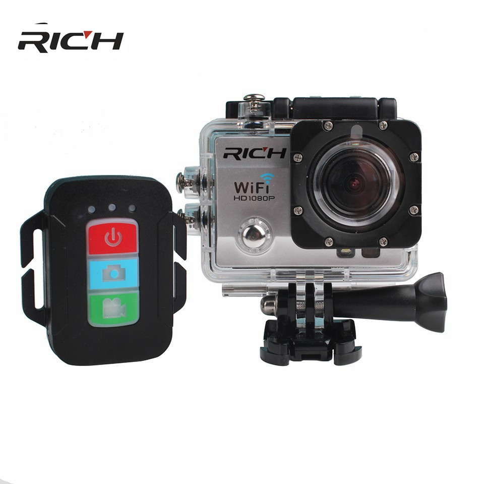 Andoer Q3H 2 Ultra-HD LCD 4K 25FPS 1080P 60FPS Wifi Cam FPV Video Output 16MP Action Camera q3h action sport camera 4k ultra 1080p 60fps hd waterproof 30 wifi digital cam support self stick
