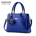 New Designer brand Leather women bag sweet fashion handbag female Lace sweet Embossing ladies leather Shoulder bag