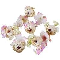 9PCs Set Women Bride Handmade Rose Flower Floral Fascinator Hair Pins Hair Clips Wedding Prom Headpieces