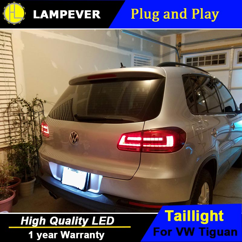 HLC Car Styling for VW Tiguan Tail Lights 2013-2015 Volks Wagen New Tiguan LED Tail Light Rear Lamp DRL+Brake+Park+Signal diffuseur arrière carbone bmw x4 f26
