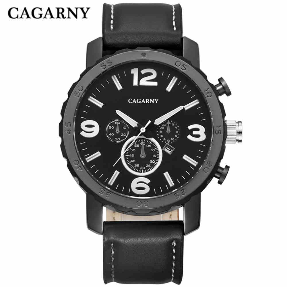 CAGARNY New Sport Watch Brand Men Watch Military Watch Quartz Movement Big Dial Business Casual CompleteCalendarClock PENGNATATE