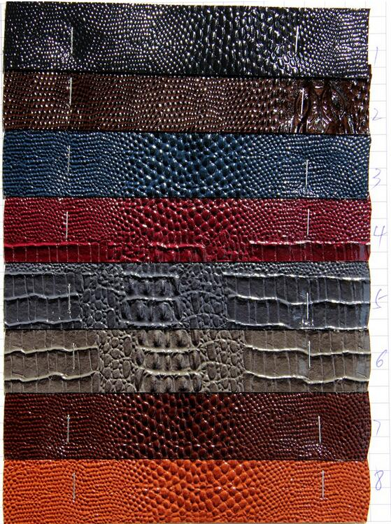 Tela para muebles vinyl crocodile leather fabric glitter - Tejidos para sofas ...