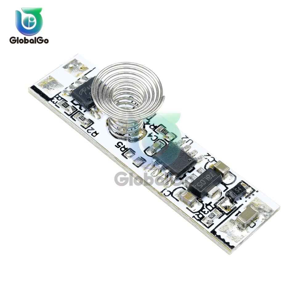 Interrupteur à ressort LED interrupteur de commande gradateur 9-24 V 30 W 3A DC 12 V capteur tactile capacitif interrupteur LED lampes de gradation
