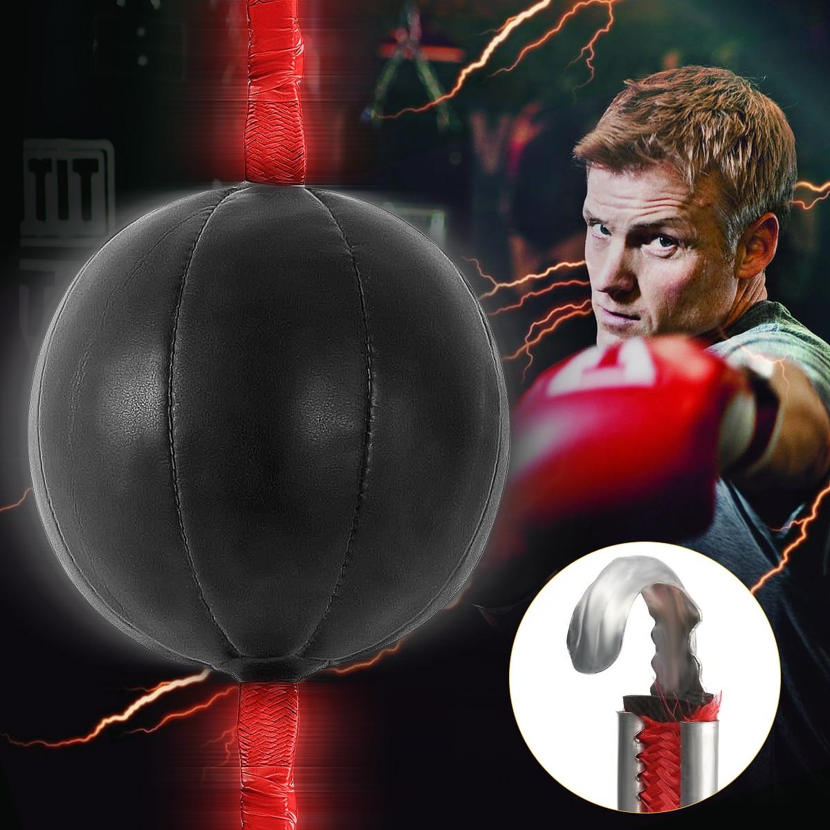 MMA Boxing Leather Speed Ball /& Muay Thai Boxing Swivel Punch Bag Punching