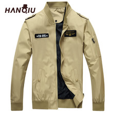 HANQIU Plus Size 6XL Jacket Men Autumn Brand Bomber Jacket Solid Casual Outwear High Quality Homme Cargo Coat Jaqueta Masculino