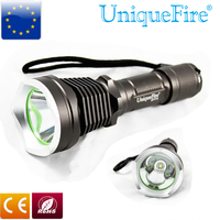 UniqueFire UF F15 Cree T6 Led Flashlight 3 Modes Aluminum Alloy Brown Lanterna Lamp for 18650 Rechargeable Battery