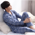 330128/Autumn man pure cotton Pajamas/ Loose/ Comfortable/ soft/ Breathable/Three - dimensional cutting design