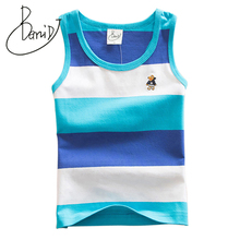 2018 kids high quality summer clothing for boys girls baby toddler big boy clothes children sleeveless 100% cotton vest t shirt