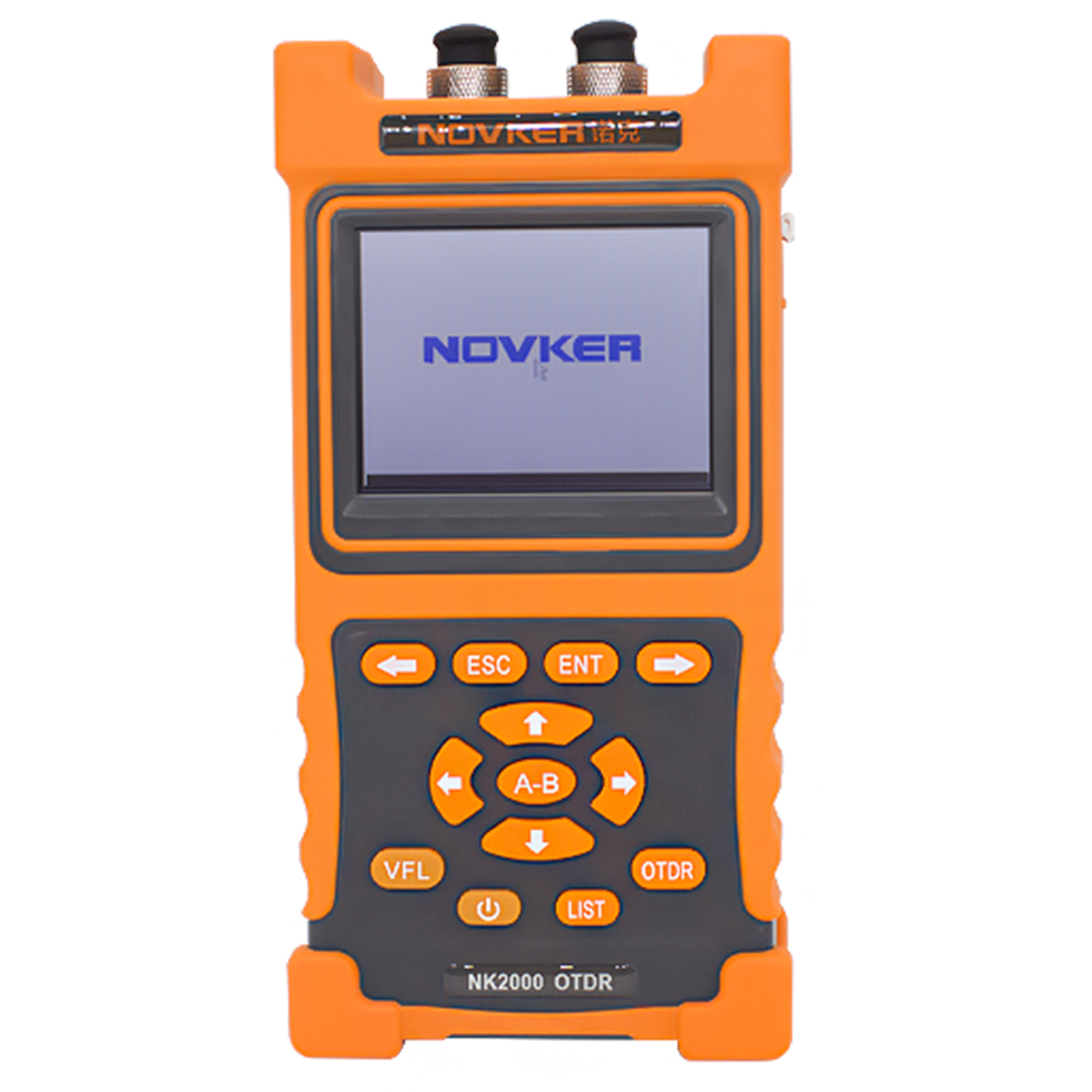 NOVKER NK2000 SM OTDR 1310nm/1550nm 28/26dB,sigle-mode otdr Optical Time Domain Reflectometer with VFL touch screenNOVKER NK2000 SM OTDR 1310nm/1550nm 28/26dB,sigle-mode otdr Optical Time Domain Reflectometer with VFL touch screen