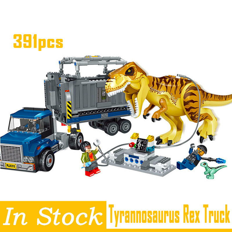 Blocs Jurassic World 2 Rex Transport building indominus dinosaure Bolon Jurassic dinosaure jouets blocs enfants cadeaux Legoings Technic