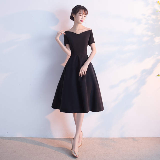 fa70652ad7e placeholder It s YiiYa New Black Off Shoulder Sweetheart Cocktail Little  Black Dress Sex Knee Length Party Simple