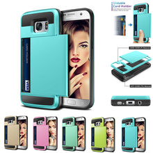 for Iphone X 8 5 5s Se 6 6s 7 Plus Samsung Galaxy S5 S6 S7 S8 Plus Note 8 5 Case Slide Card Hybrid Hard Verus Cases Cover Real