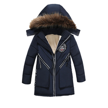 New Boys Parka Childen Winter Jackets Warm Boys Clothes Kids Baby Thick Cotton Down Jacket Cold Winter Outwea